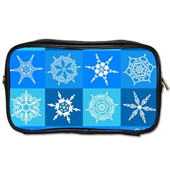 Background Blue Decoration Toiletries Bags