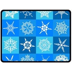 Background Blue Decoration Fleece Blanket (Large)
