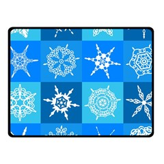 Background Blue Decoration Fleece Blanket (Small)