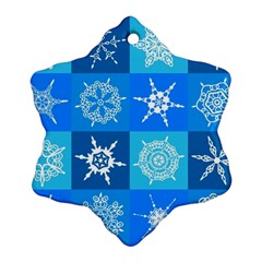 Background Blue Decoration Snowflake Ornament (2-Side)