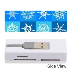 Background Blue Decoration Memory Card Reader (Stick)