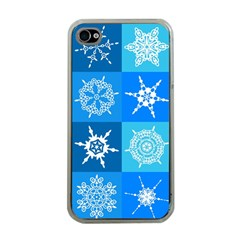 Background Blue Decoration Apple iPhone 4 Case (Clear)