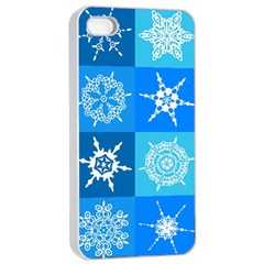 Background Blue Decoration Apple iPhone 4/4s Seamless Case (White)