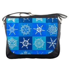 Background Blue Decoration Messenger Bags