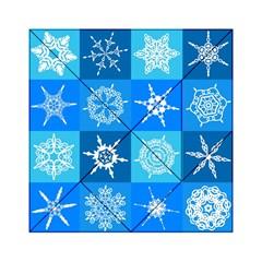 Background Blue Decoration Acrylic Tangram Puzzle (6  x 6 )