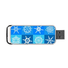 Background Blue Decoration Portable USB Flash (Two Sides)