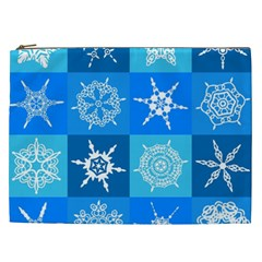 Background Blue Decoration Cosmetic Bag (XXL)