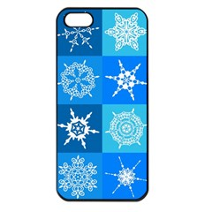 Background Blue Decoration Apple iPhone 5 Seamless Case (Black)