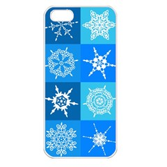 Background Blue Decoration Apple iPhone 5 Seamless Case (White)
