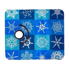 Background Blue Decoration Galaxy S3 (Flip/Folio)