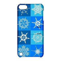 Background Blue Decoration Apple iPod Touch 5 Hardshell Case with Stand