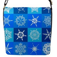 Background Blue Decoration Flap Messenger Bag (S)