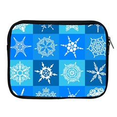 Background Blue Decoration Apple iPad 2/3/4 Zipper Cases