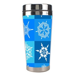 Background Blue Decoration Stainless Steel Travel Tumblers