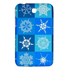 Background Blue Decoration Samsung Galaxy Tab 3 (7 ) P3200 Hardshell Case