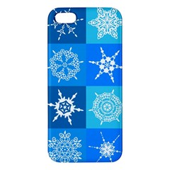 Background Blue Decoration iPhone 5S/ SE Premium Hardshell Case