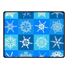 Background Blue Decoration Double Sided Fleece Blanket (Small)