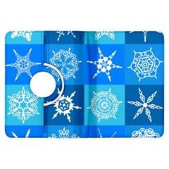 Background Blue Decoration Kindle Fire HDX Flip 360 Case