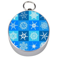 Background Blue Decoration Silver Compasses