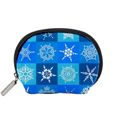 Background Blue Decoration Accessory Pouches (Small)