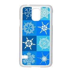 Background Blue Decoration Samsung Galaxy S5 Case (White)