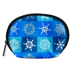 Background Blue Decoration Accessory Pouches (Medium)