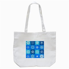 Background Blue Decoration Tote Bag (White)