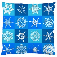 Background Blue Decoration Standard Flano Cushion Case (Two Sides)