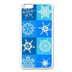 Background Blue Decoration Apple iPhone 6 Plus/6S Plus Enamel White Case