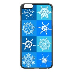 Background Blue Decoration Apple iPhone 6 Plus/6S Plus Black Enamel Case