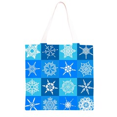 Background Blue Decoration Grocery Light Tote Bag
