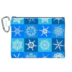 Background Blue Decoration Canvas Cosmetic Bag (XL)