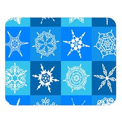 Background Blue Decoration Double Sided Flano Blanket (Large)