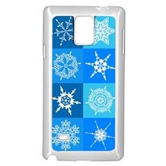 Background Blue Decoration Samsung Galaxy Note 4 Case (White)
