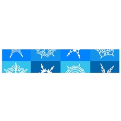 Background Blue Decoration Flano Scarf (Small)
