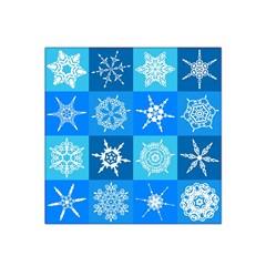 Background Blue Decoration Satin Bandana Scarf