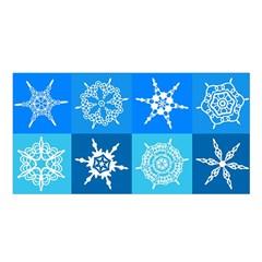Background Blue Decoration Satin Shawl