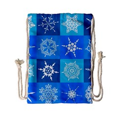 Background Blue Decoration Drawstring Bag (Small)