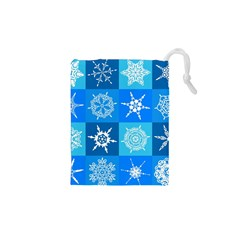 Background Blue Decoration Drawstring Pouches (XS)