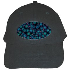 Background Abstract Textile Design Black Cap