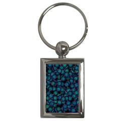 Background Abstract Textile Design Key Chains (Rectangle)
