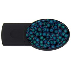 Background Abstract Textile Design USB Flash Drive Oval (4 GB)