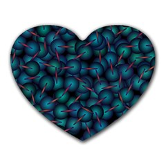 Background Abstract Textile Design Heart Mousepads
