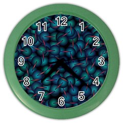 Background Abstract Textile Design Color Wall Clocks