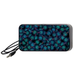 Background Abstract Textile Design Portable Speaker (Black)