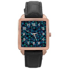 Background Abstract Textile Design Rose Gold Leather Watch