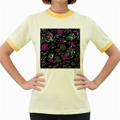 Purple mind Women s Fitted Ringer T-Shirts