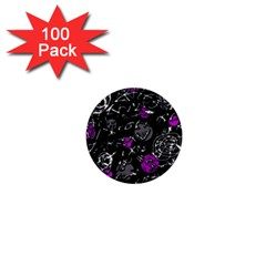 Purple mind 1  Mini Buttons (100 pack)