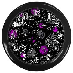 Purple mind Wall Clocks (Black)