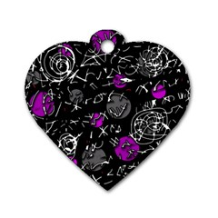 Purple mind Dog Tag Heart (Two Sides)